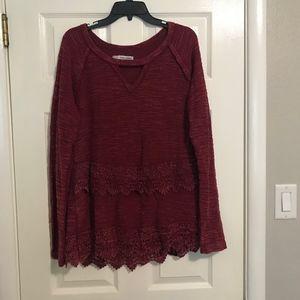 Maurice's Maroon Sweater
